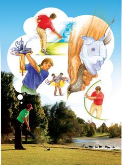 Swing Thoughts That Really Work - Golf Tips Magazine on cartoon easy draw golf club, easy drawings to draw golf club, cartoon golf club bag, cartoon swinging golf club,