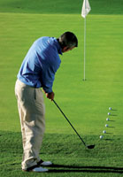 score with a hybrid above hole