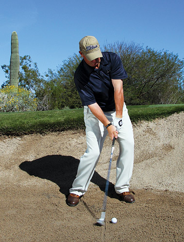 how to hit out of fairway bunker