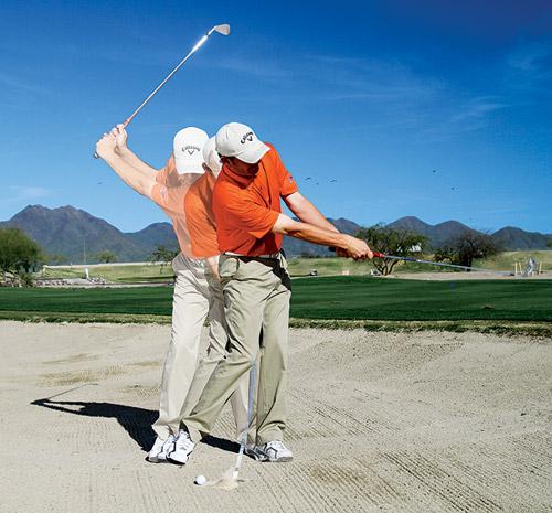 golf fairway bunker shot instruction