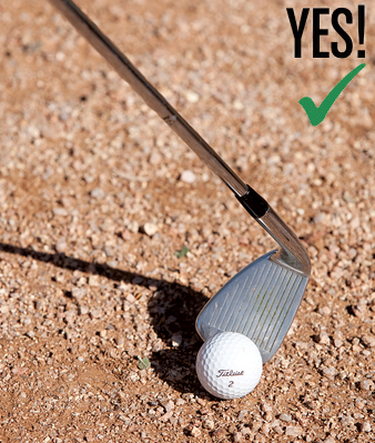 how to hit ball first then divot
