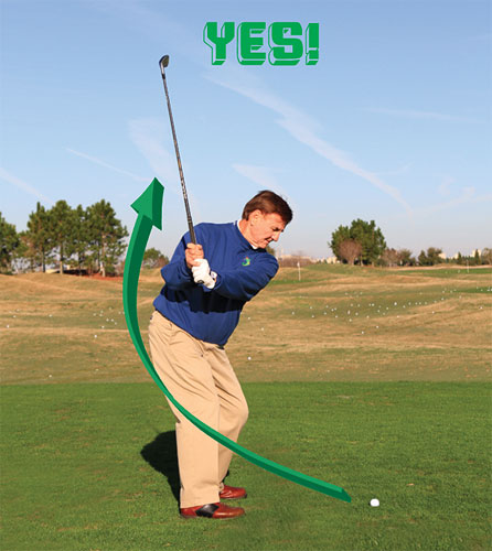 In These Photos Im Swinging Out A Little Bit To The Right Of Target Produce Correct Golf Swing Motion Through Ball