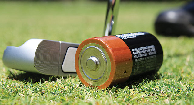 Battery used for putting practice