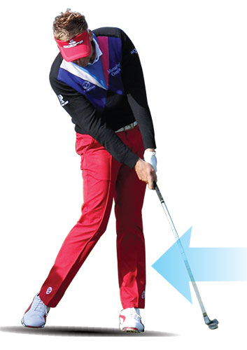 Ian Poulter-braced left leg