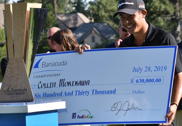 Barracuda Day 4 Morikawa Winner's Check