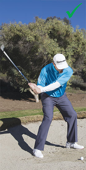 As I swing, I try and keep my weight centered and allow the hands to speed up.