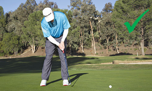 Stay steady and rock the shoulders. You'll dial more short putts.