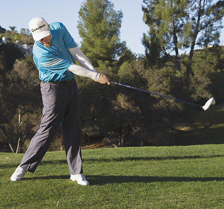 Stay wide through the finish, with a good extension of the arms.