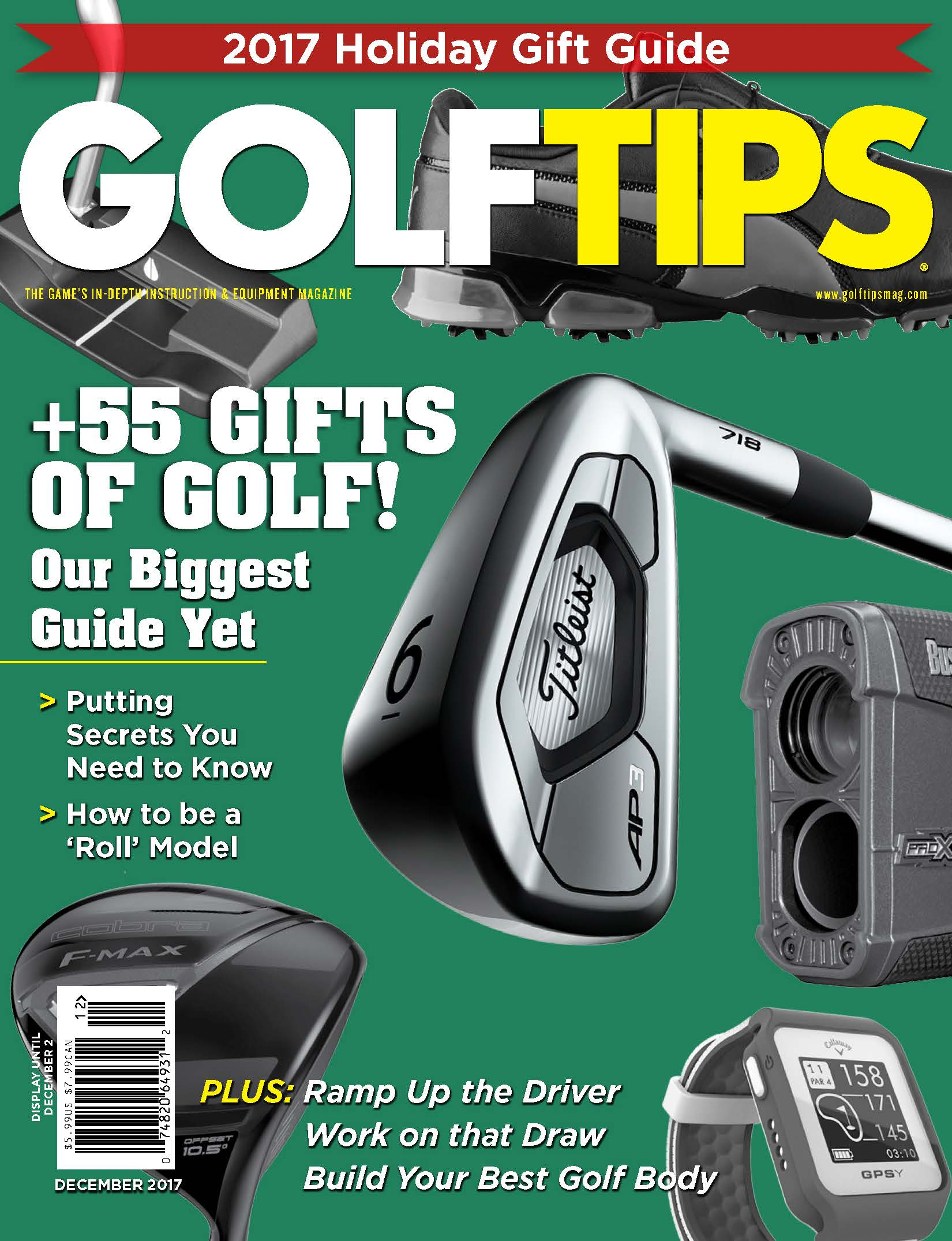 Golf Tips December 2017 Cover
