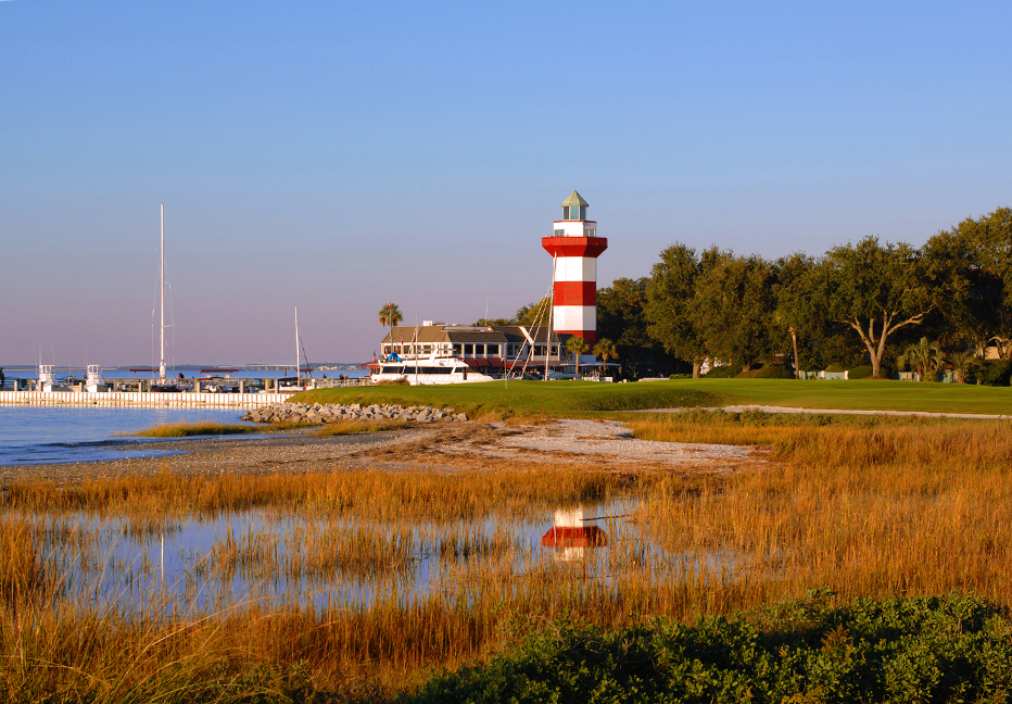 The famous finishing hole at Harbour Town Golf Links.