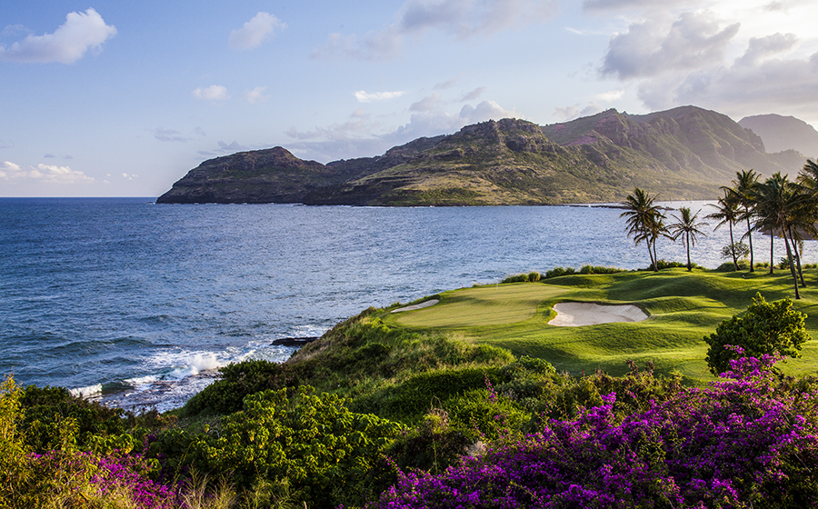 Hokuala Golf Course offers some of the best seaside holes on Kauai.
