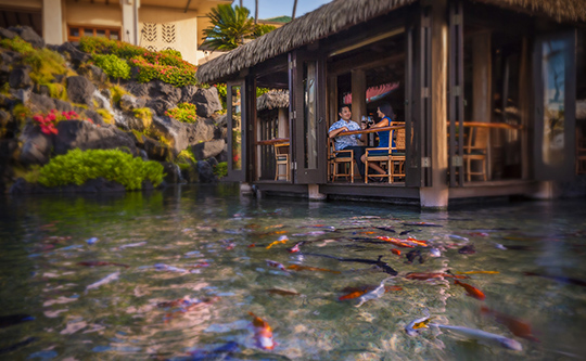Tidepools is one of several outstanding restaurants at Grand Hyatt Kauai Resort & Spa