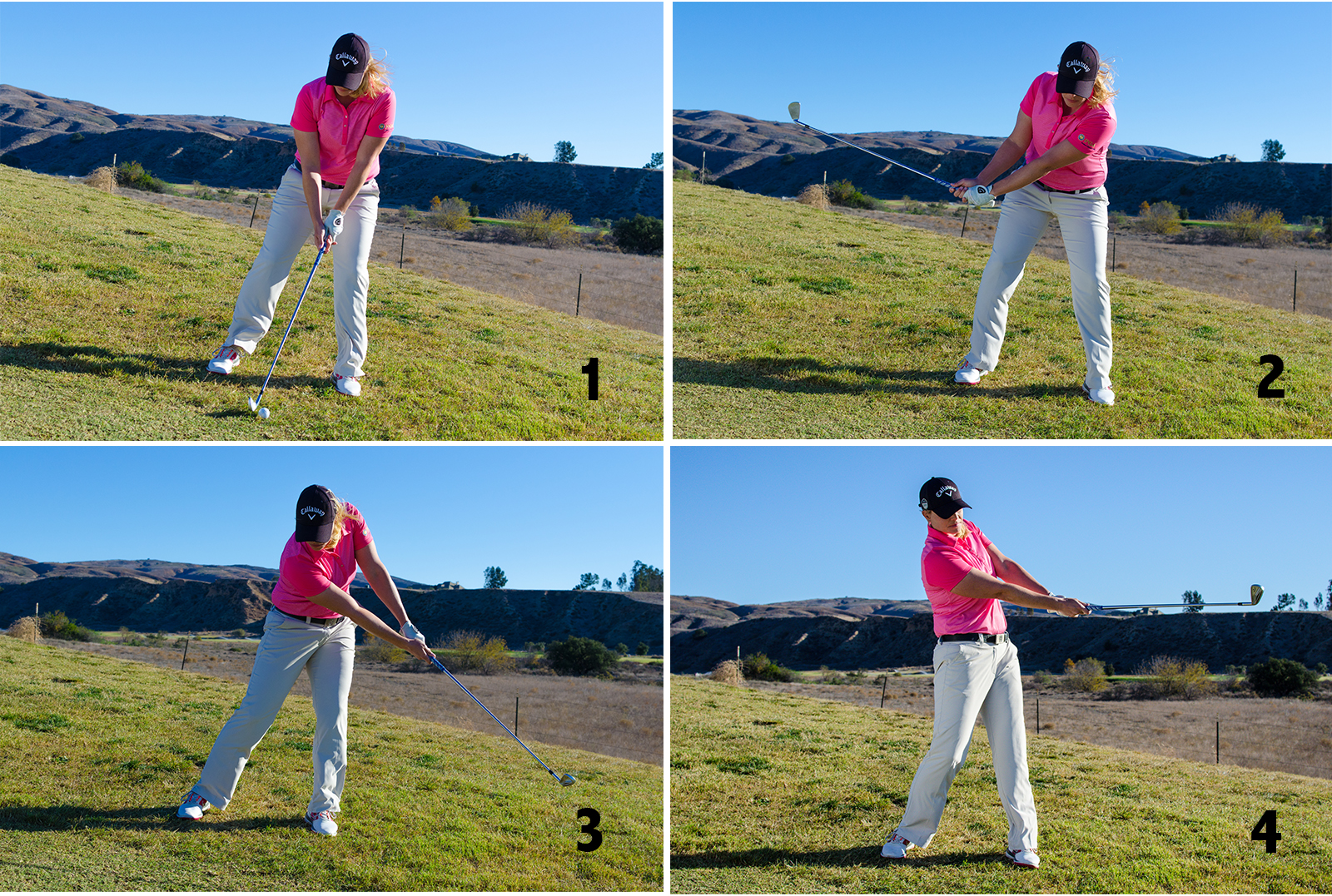 Golf Swing Downhill