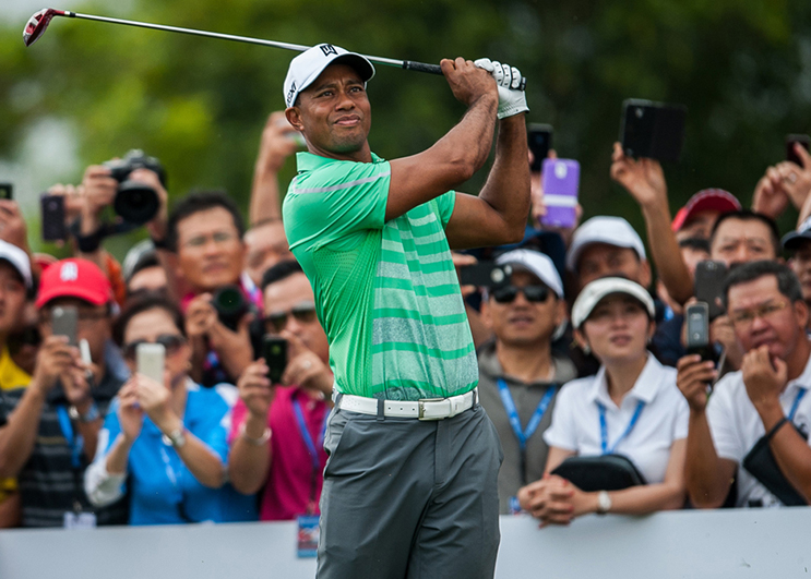 Tiger Woods slider