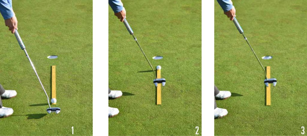 Yardstick Putting Drill Photos