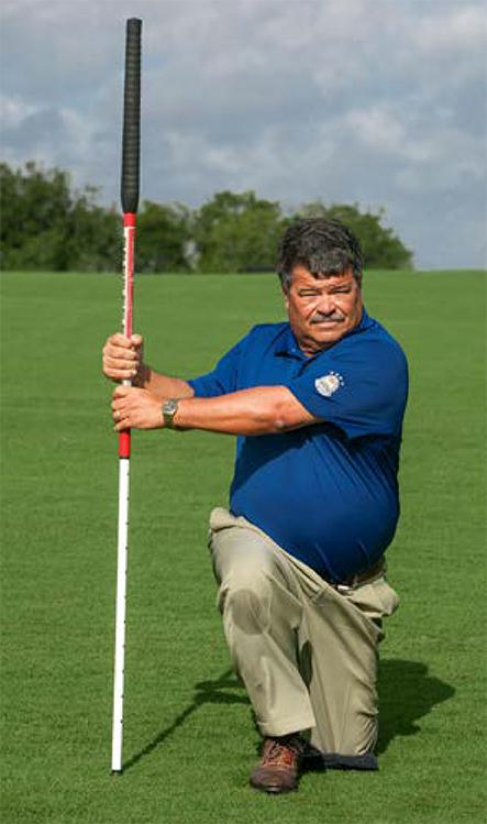 golf balance kneel stretch
