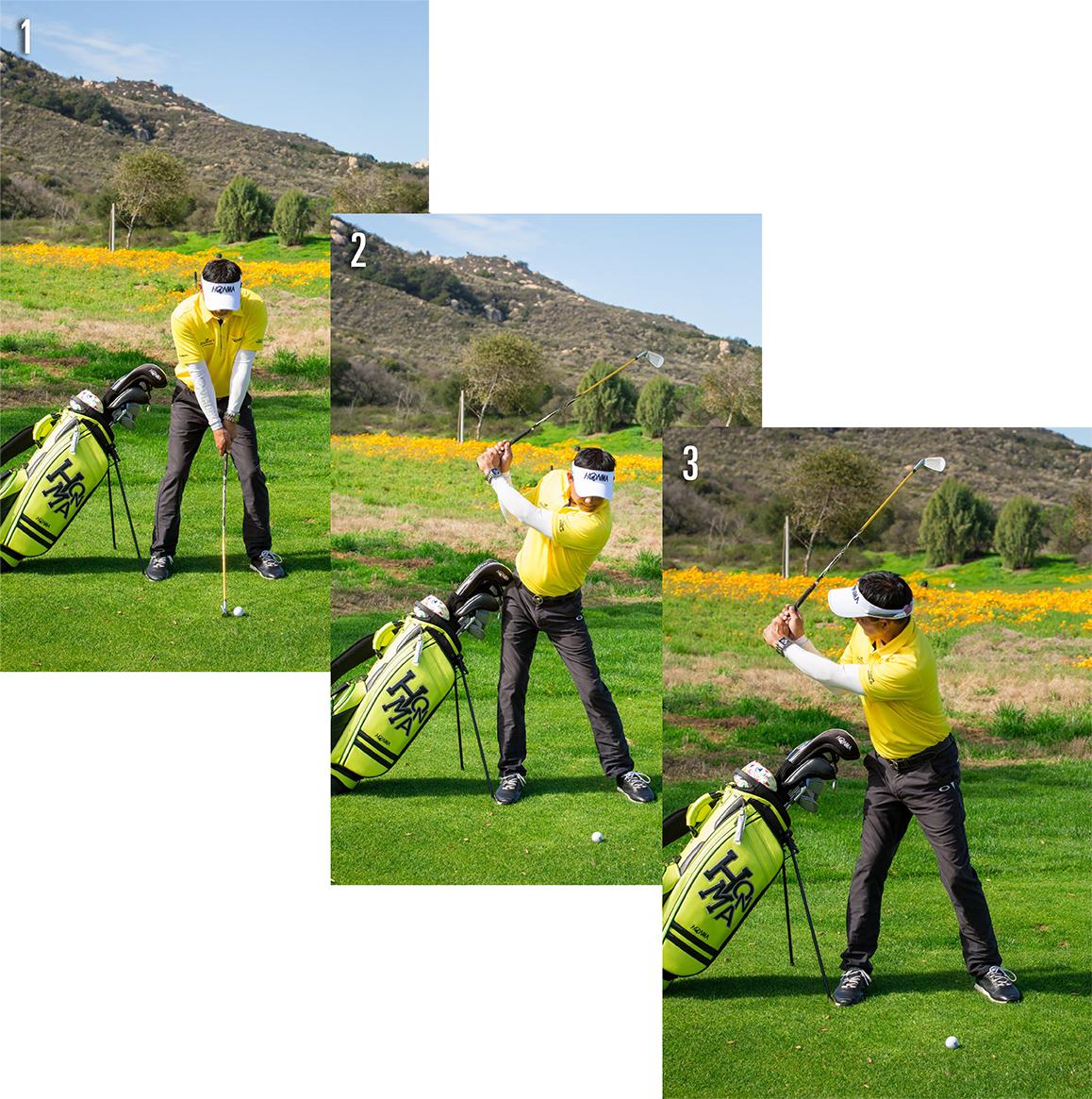 golf bag into a training aid 1-3
