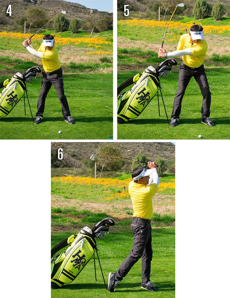 golf bag into a training aid 4-6