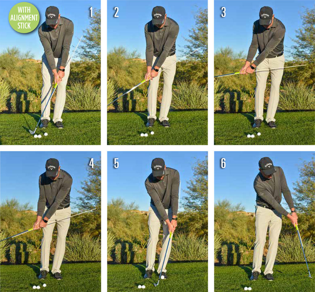 short game drills with stick