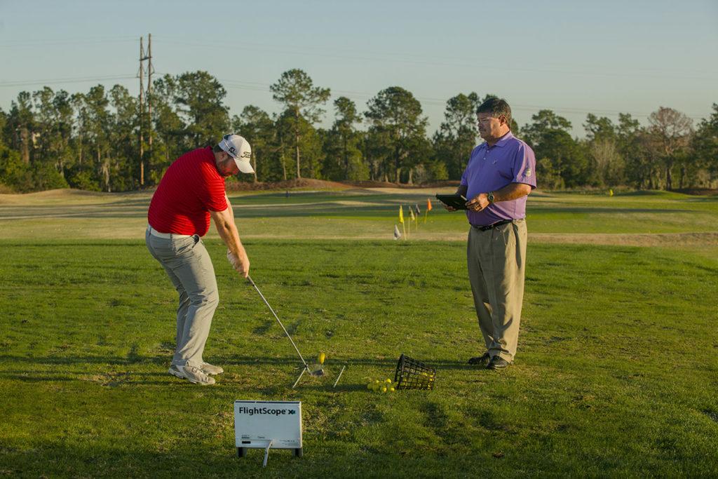 practice to play golf downrange
