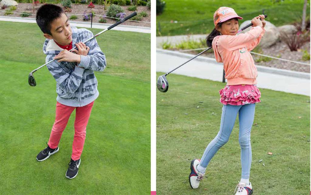 junior golfer full swing drills