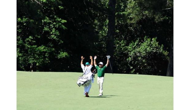 great masters golf shots oosthuizen double eagle