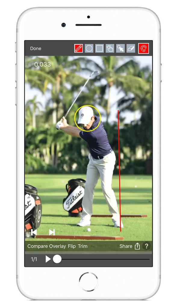v1 iOS golf app