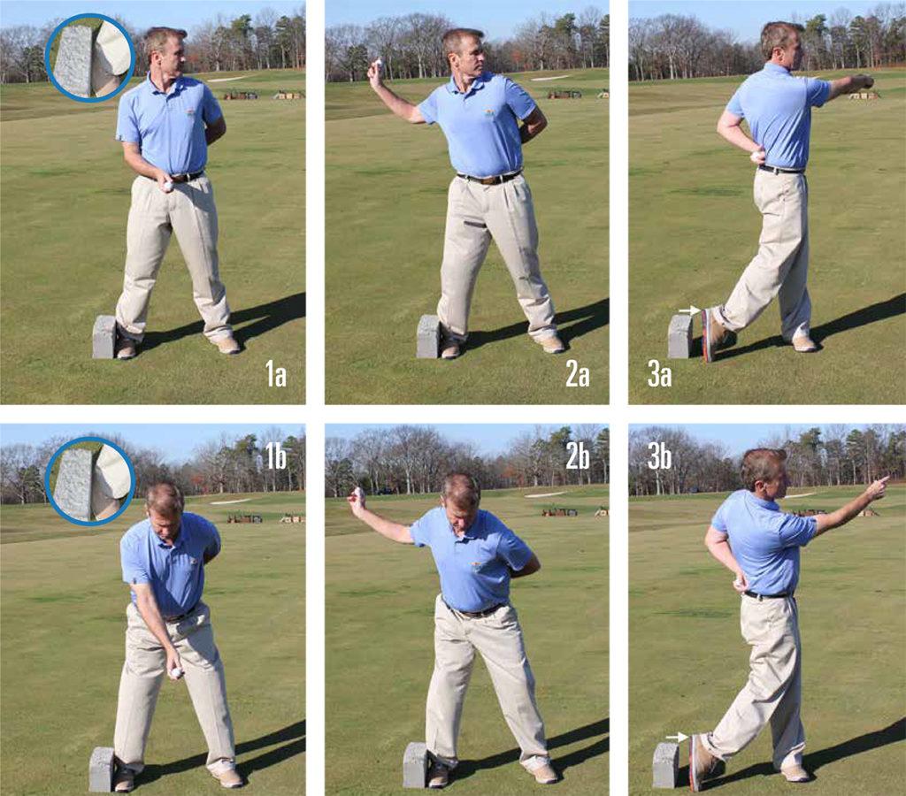 golf footwork 1a-3b