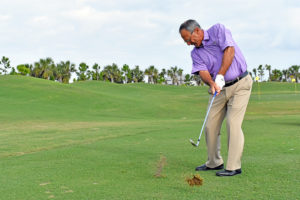 solid golf contact divot 2