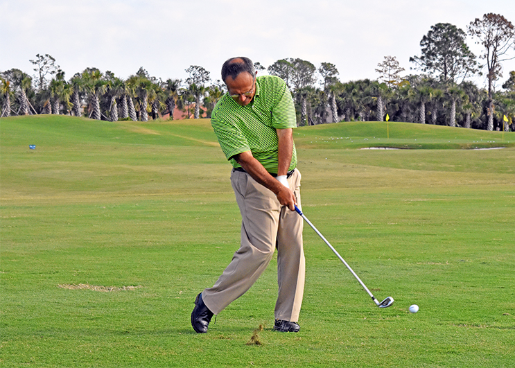 Divot And Pivot For Solid Contact