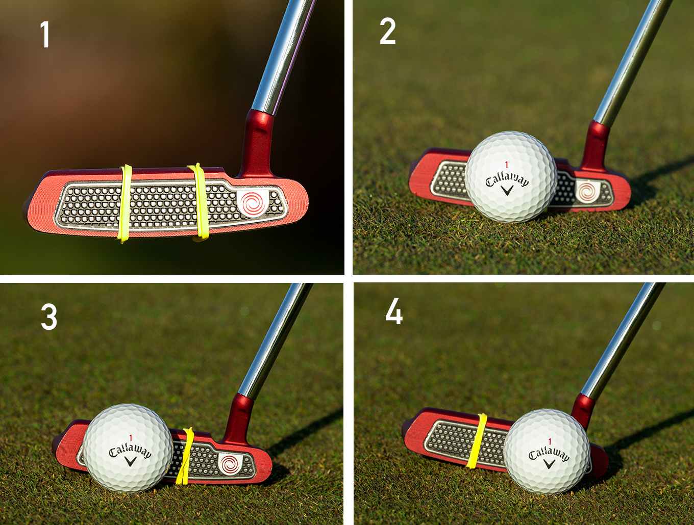 center of the club face 1-4